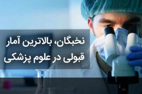 نخبگان، بالاترین آمار قبولی در علوم پزشکی